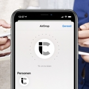 AirDrop op iPhone bestand delen.