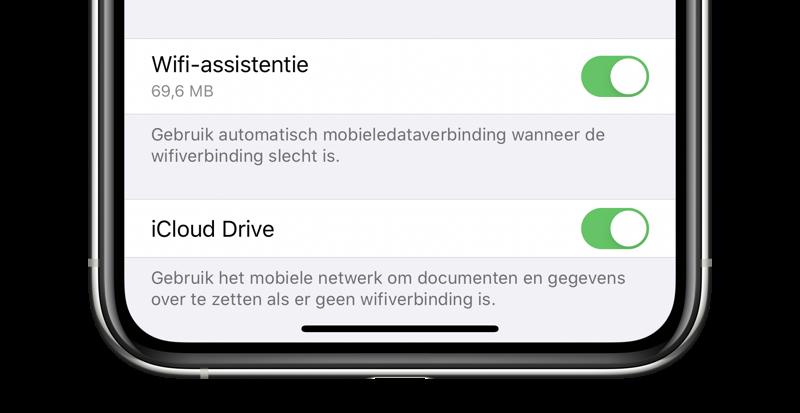 WiFi Assistentie inschakelen