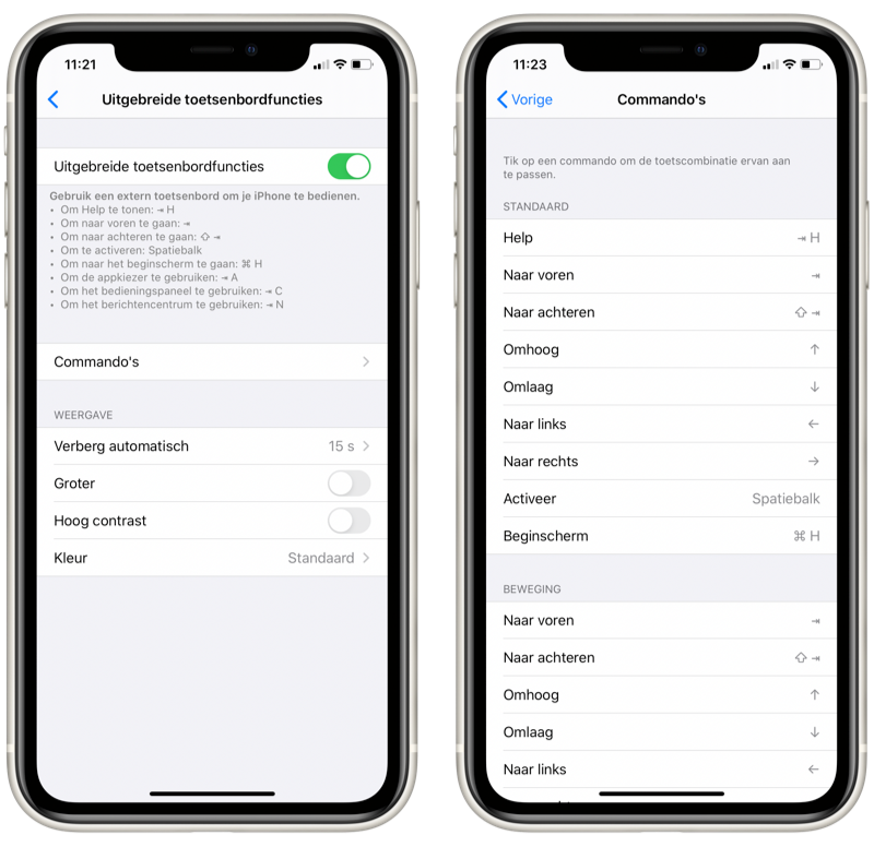iOS 13.4 uitgebreide toetsenbordfuncties.