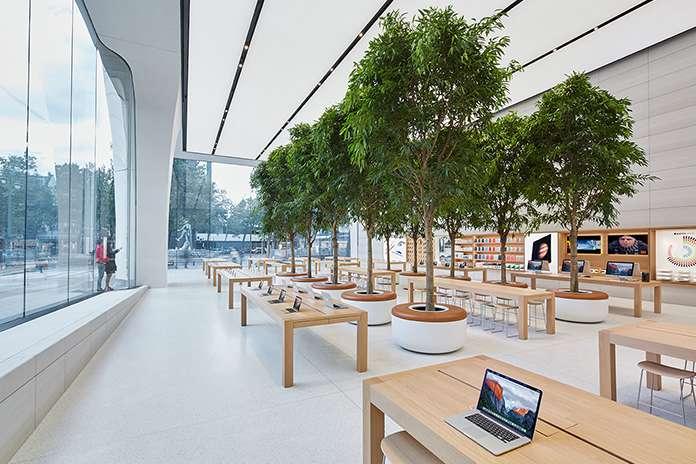 Apple Brussel glaspanelen