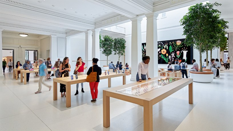 Tafels in Apple Store