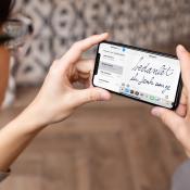 Handschrift in iMessage-app