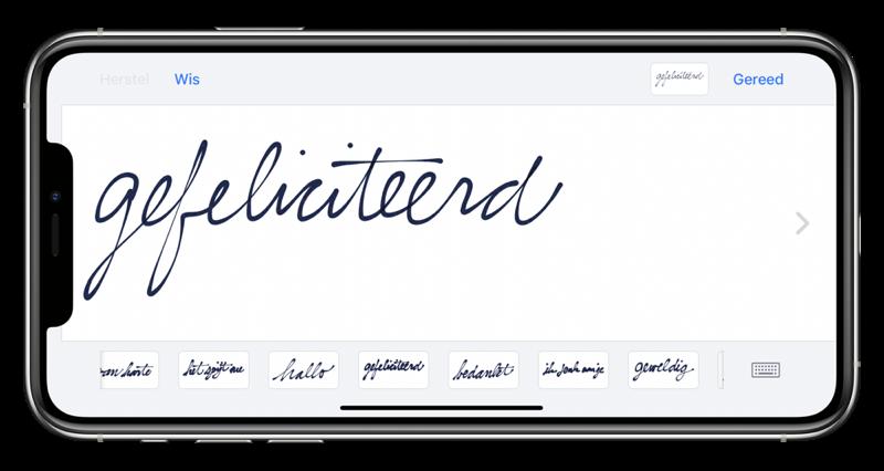 Standaard handgeschreven teksten