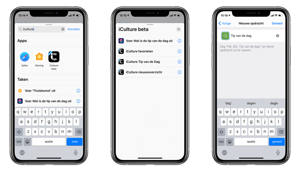 iCulture-app v3 Siri Shortcuts instellen.