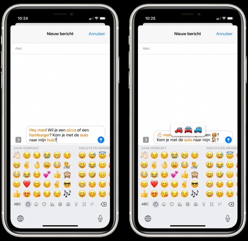 iMessage woorden in emoji omzetten.
