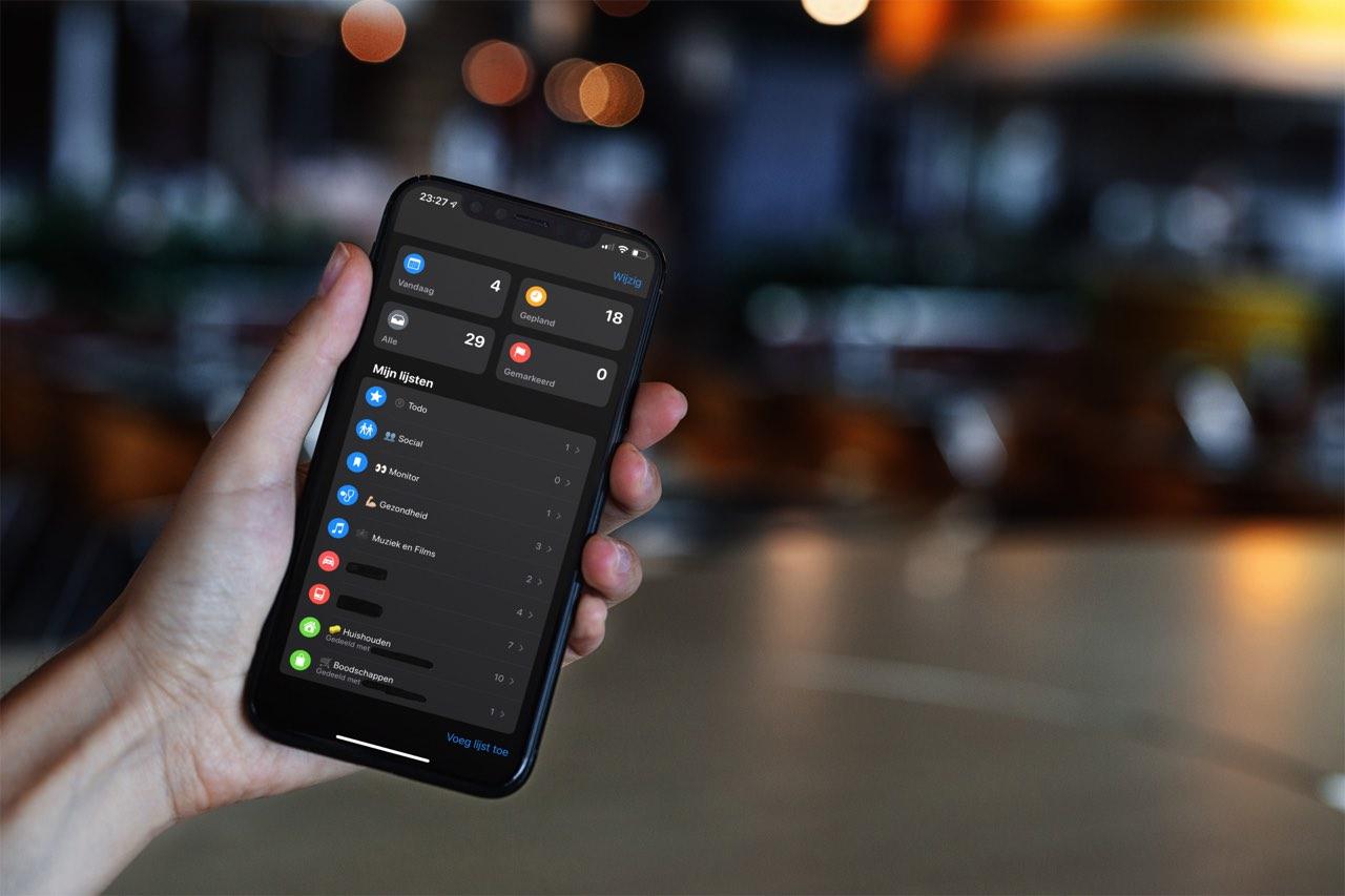Herinneringen app gebruiken