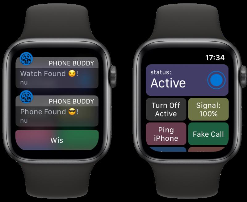 Phone Buddy Notifier voor Apple Watch.