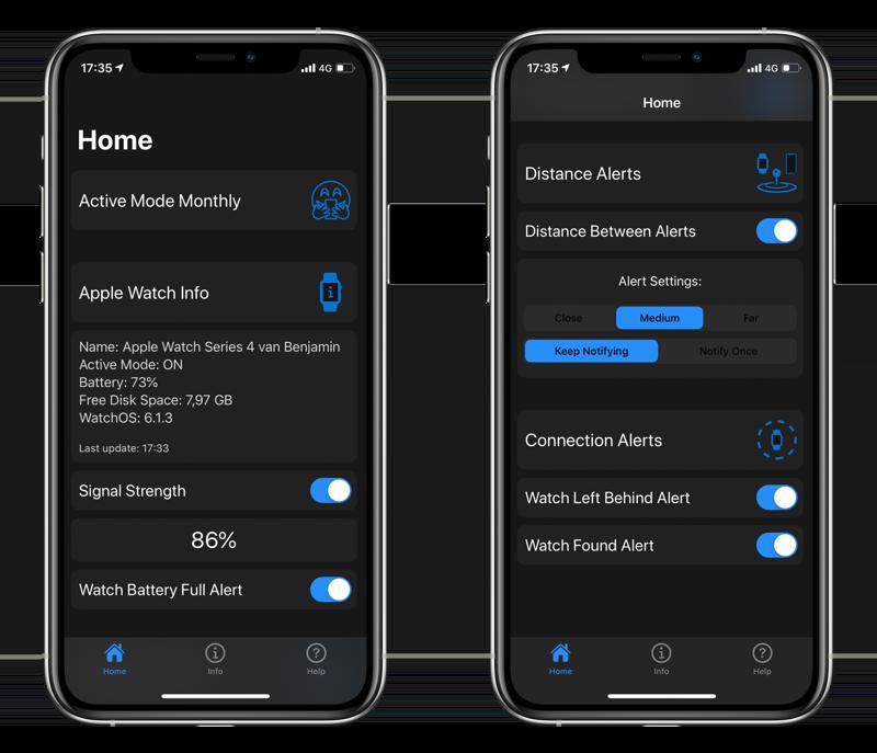 Phone Buddy Notifier voor iPhone.