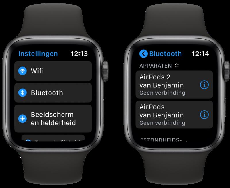 Apple Watch Bluetooth koptelefoon koppelen.