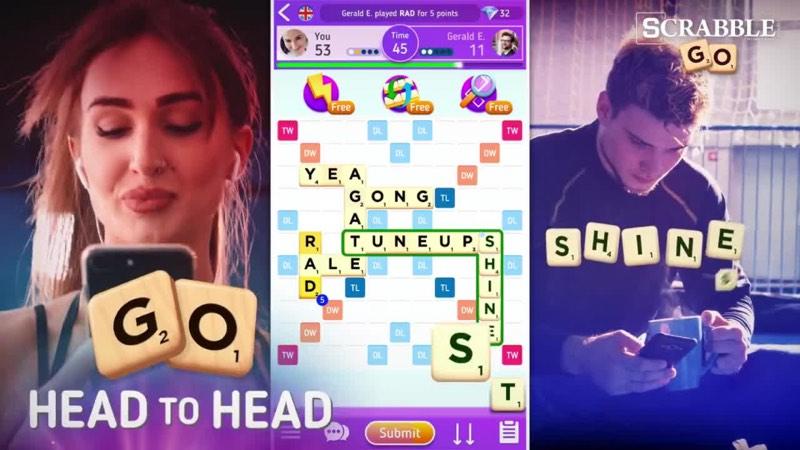 Scrabble GO voor iOS met celebrities