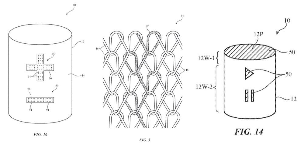 Patent HomePod bediening door stof.