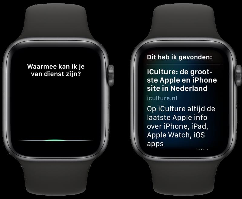 Siri op Apple Watch zoeken op internet.