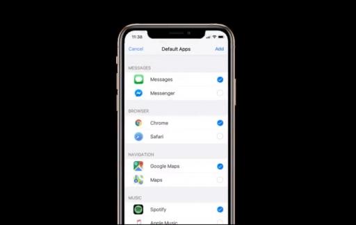 iOS 14 concept met standaardapps kiezen.
