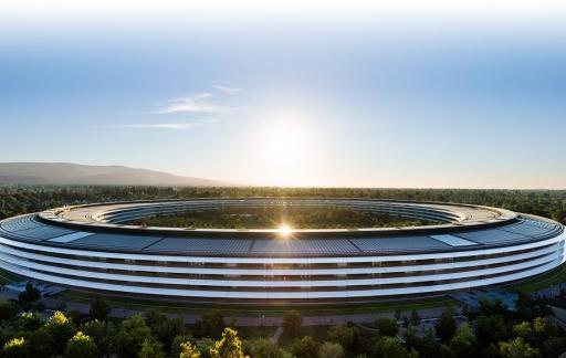 Apple Park ruimteschip hoofdkantoor Cupertino