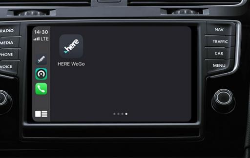 Here Maps in CarPlay