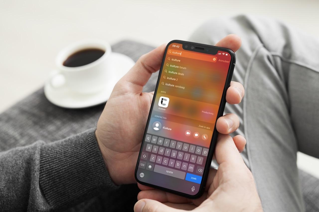 Spotlight zoeken op iPhone.