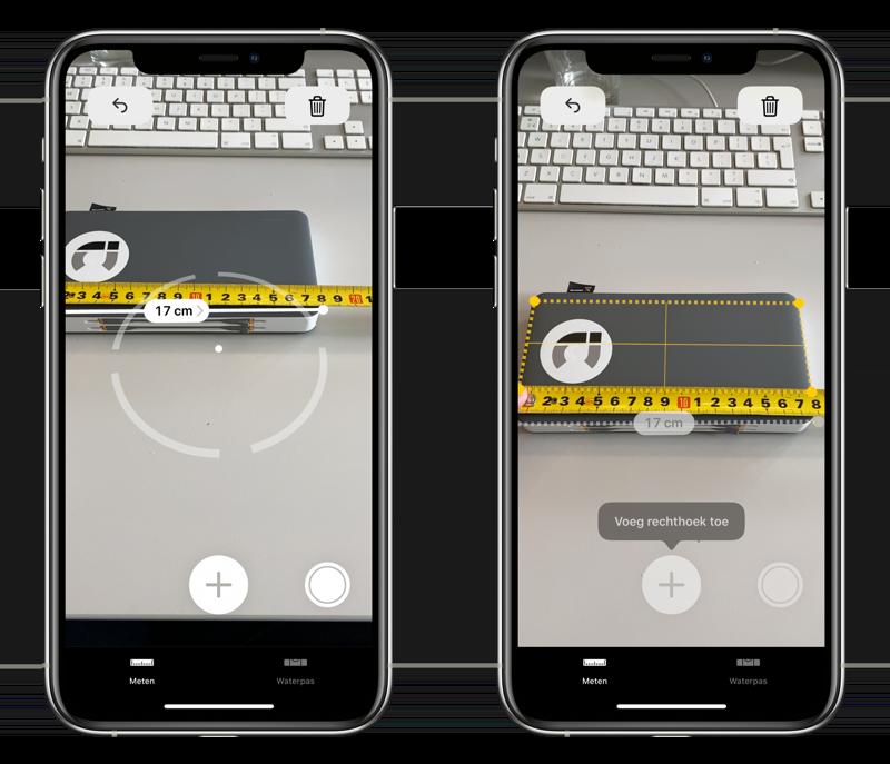 Nauwkeurigheid van Meten-app.