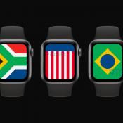 watchOS 7 International wijzerplaat met vlaggen.