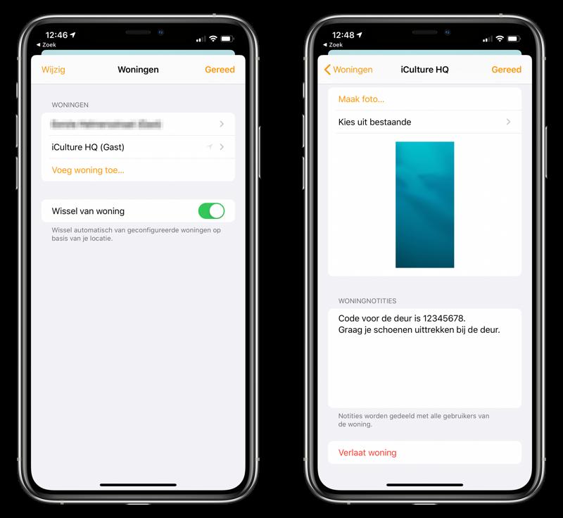 Woning-app notities toevoegen