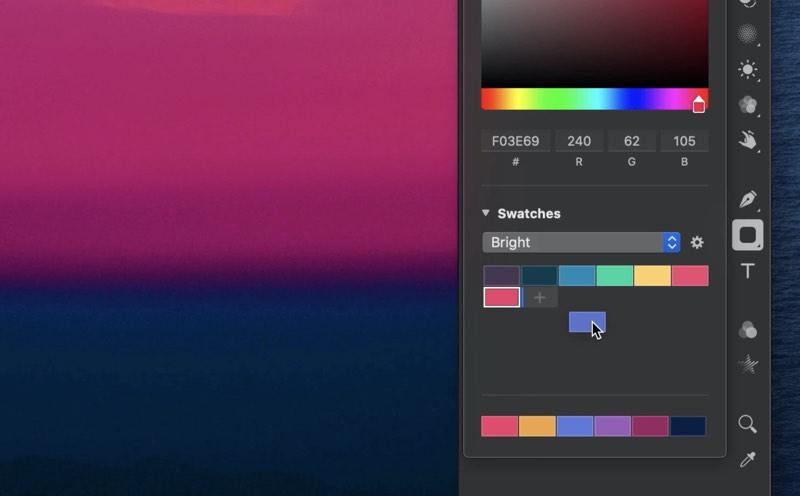Pixelmator kleurenkiezer