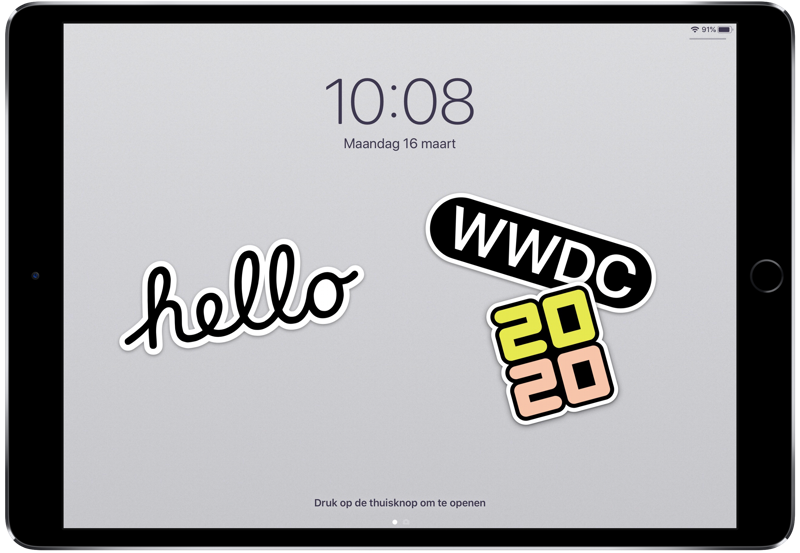 WWDC 2020 wallpaper voor iPad.