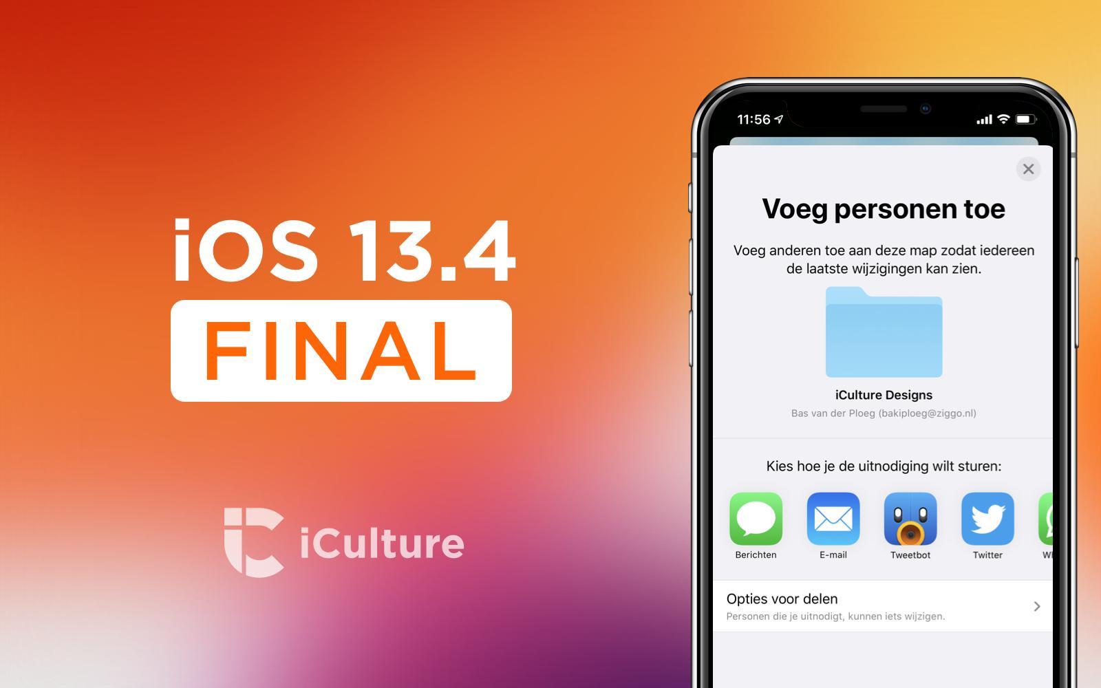 iOS 13.4 final.