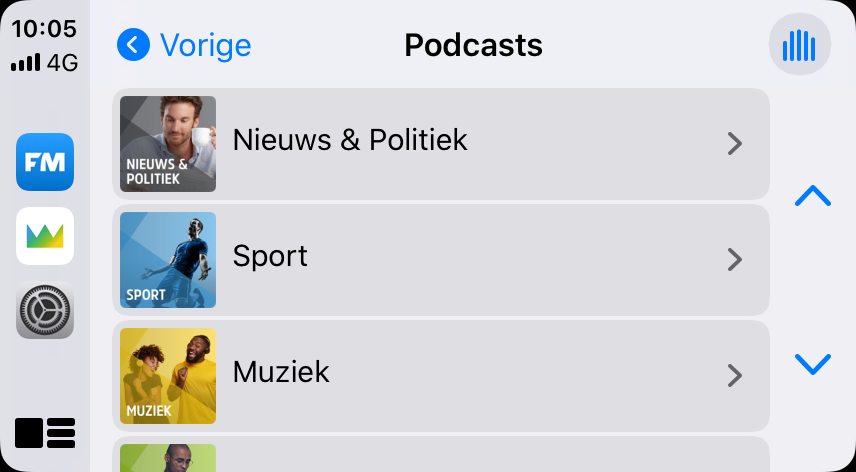 Juke CarPlay podcasts.
