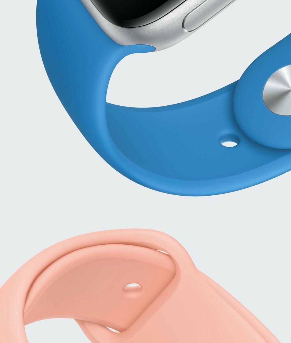 Apple Watch sportbandje voorjaar 2020 kleuren.