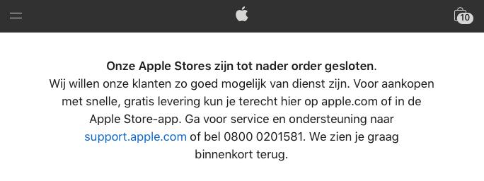 Sluiting Apple Stores