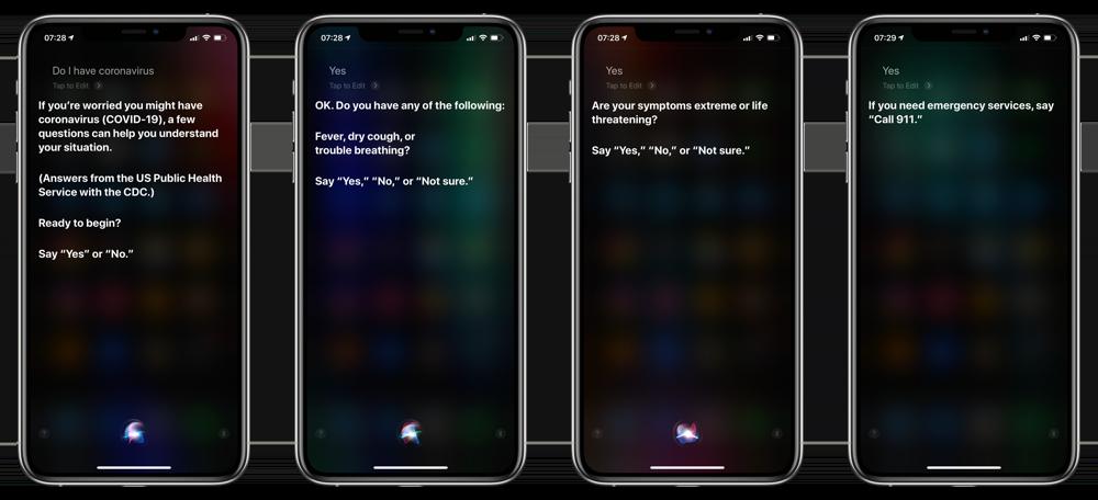 COVID=19 vragen Engelse Siri