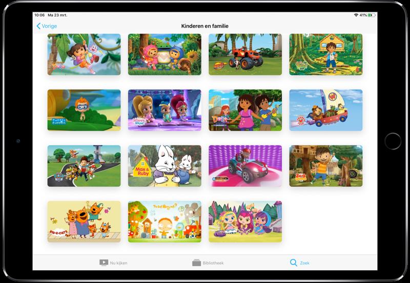 Aanbod van Noggin Apple TV-kanaal.