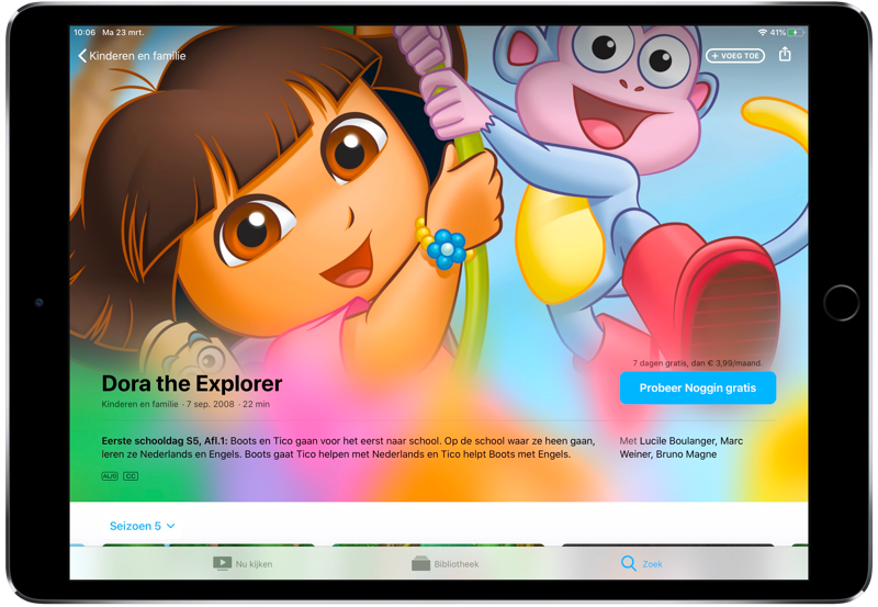 Dora in Noggin Apple TV-kanaal.