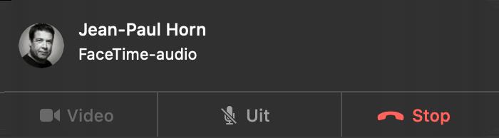 FaceTime Audio gesprek bellen