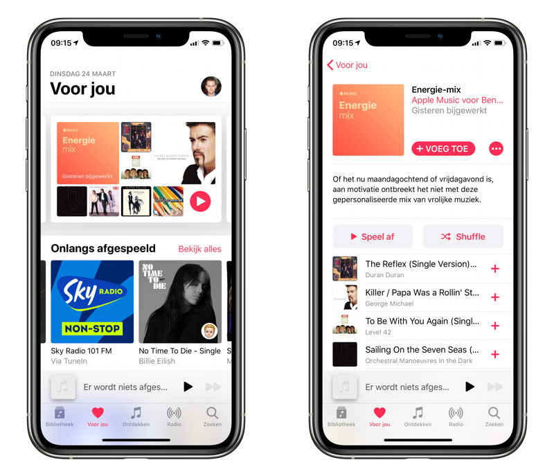Apple Music Energie Get Up mix.