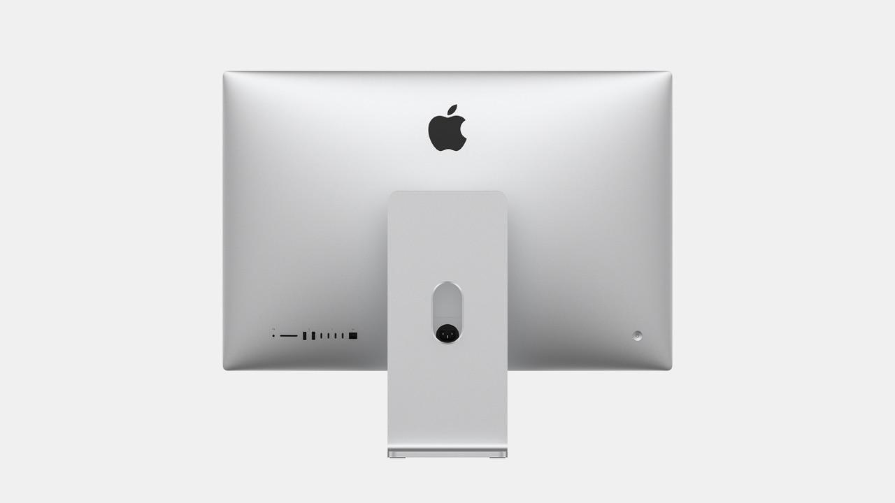 Achterkant van concept van nieuwe iMac voor 2020.