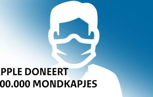 Apple donatie mondkapjes Nederland.
