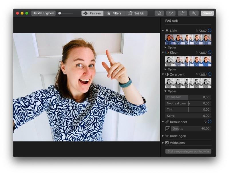 Foto's bewerken op de Mac