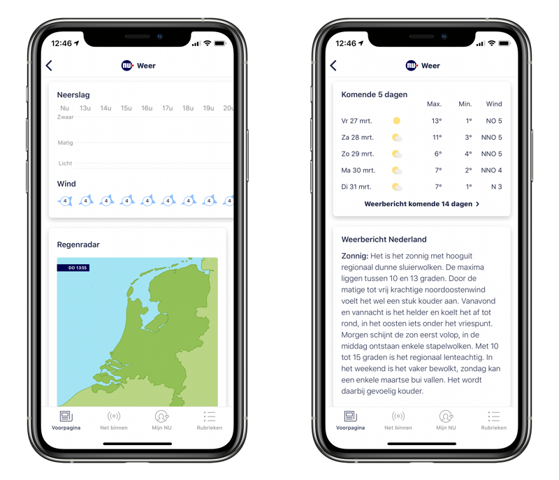 NU.nl weerbericht overzicht.