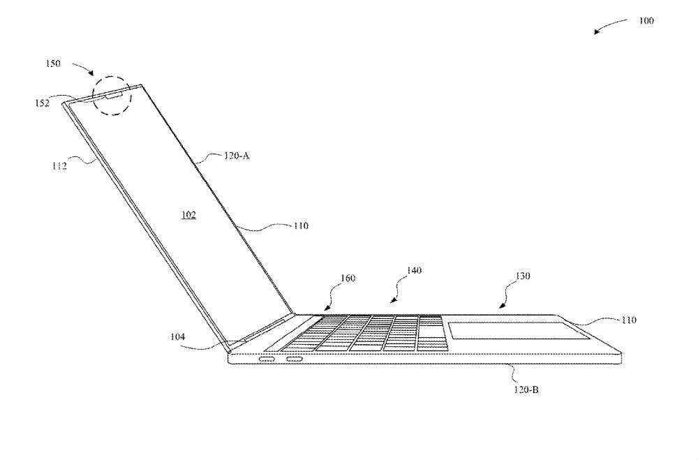 Patent: Face ID met notch op een MacBook.