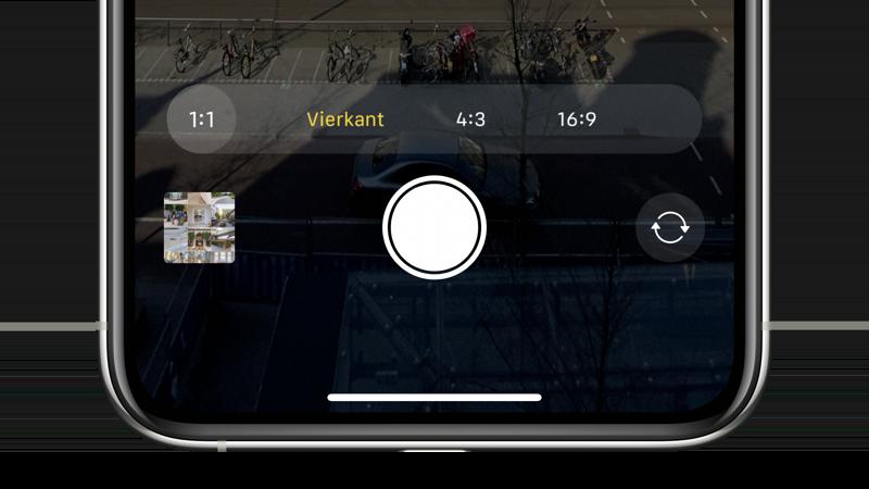 Vierkante foto op iPhone