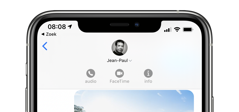 FaceTime starten Berichten-app