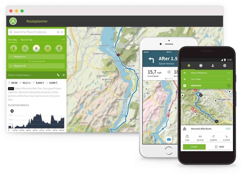 Komoot-app voor iPhone en desktop