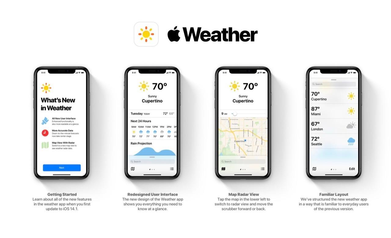 Concept Weer-app met nieuw design.