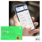 TransferWise app en kaart.