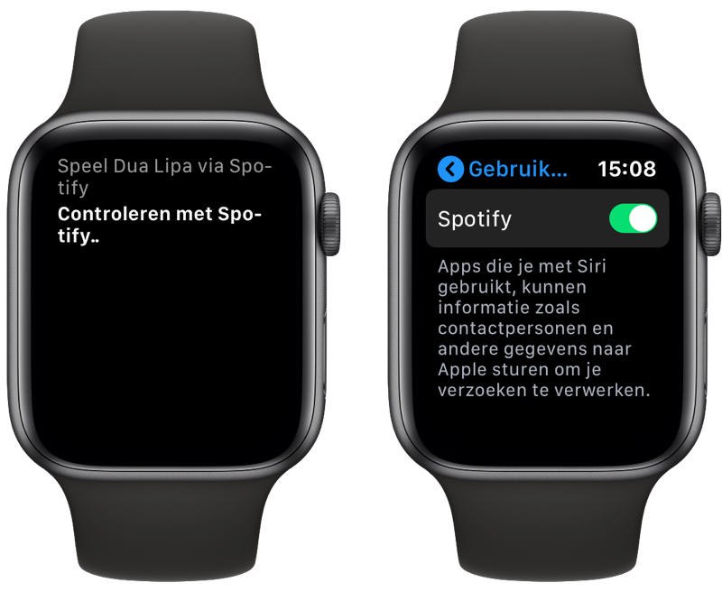 Spotify met Siri op Apple Watch.