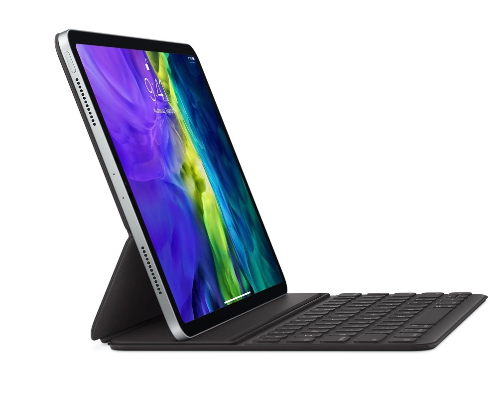 iPad Pro 2020 Smart Keyboard Folio opengeklapt.