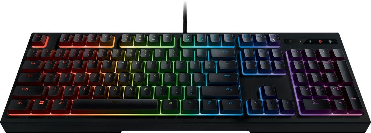 Razer-toetsenbord in meerdere kleuren.