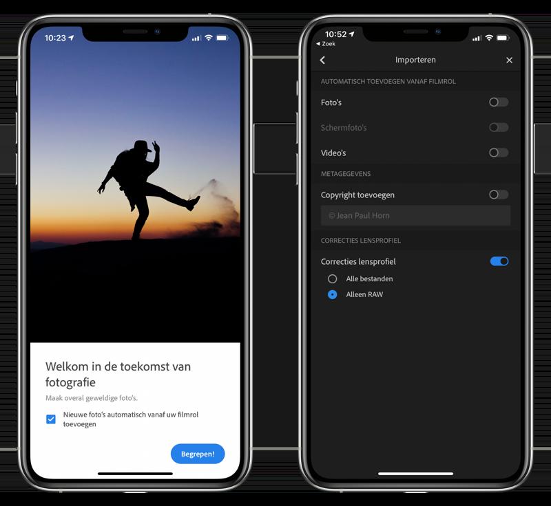 Lightroom iOS in Foto's importeren