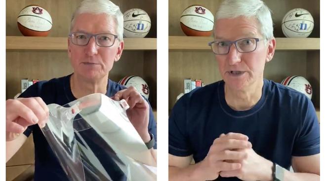 Tim Cook gezichtsscherm