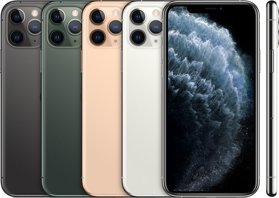 iPhone 11 Pro kleuren in stapel.